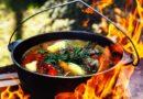 Казаны для приготовления пищи на открытом огне